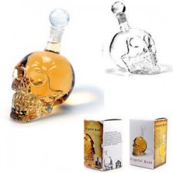 BOTELLA  CRISTAL CALAVERA 1.000 ml